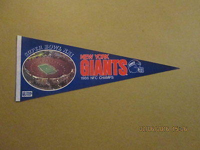 NFL New York Giants Vintage 1987 SUPER BOWL XXI Pennant