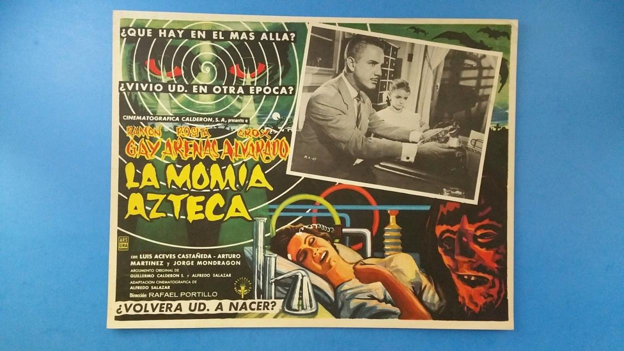 Rare Vintage Original THE AZTEC MUMMY(1957) Mexican Lobby Card***