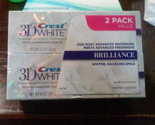 Crest 3D White Brilliance Mesmerizing Mint Whitening Toothpaste, 4.1 oz (2 PACK)