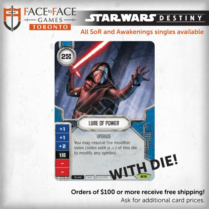 Star Wars Destiny Spirit of Rebellion Singles - 016 Lure of Power