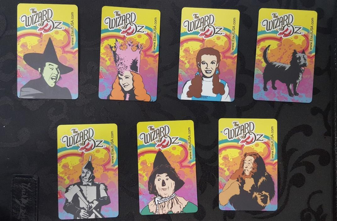 ELAUT - Set of 7 Wizard of Oz Cards - Includes RARE TOTO NO BAR CODES/NO STAMPS!