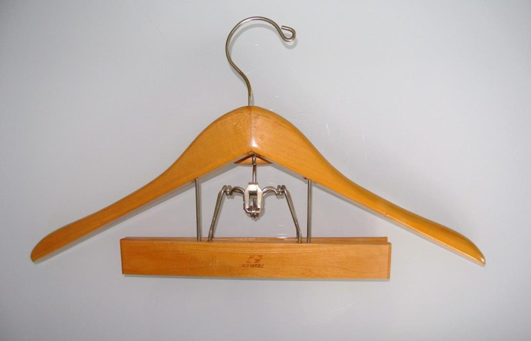 Setwell Wooden Wood Clamp Hanger Combo Suit Jacket Pants Skirt  18