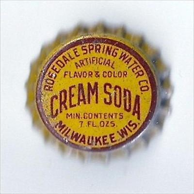 RosedaleSpring Water Co. Cream Soda  Cork  Bottle Cap