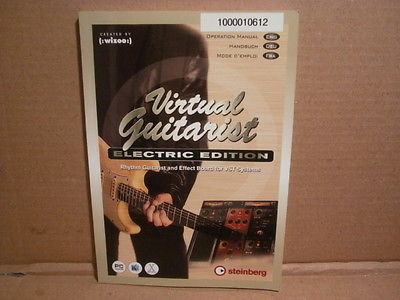 Steinberg Virtual Guitarist Electric Edition - VST Steinberg Wizoo - MANUAL Only