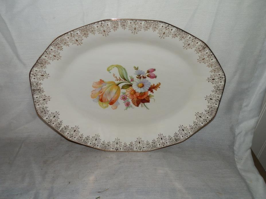 Vintage,1940's, Royal China,Waldorf,12-36,22-K Gold,11 1/4