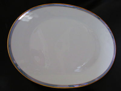 Rosenthal Gala Blue CLASSIC ROSE Oval Platter 15 3/8