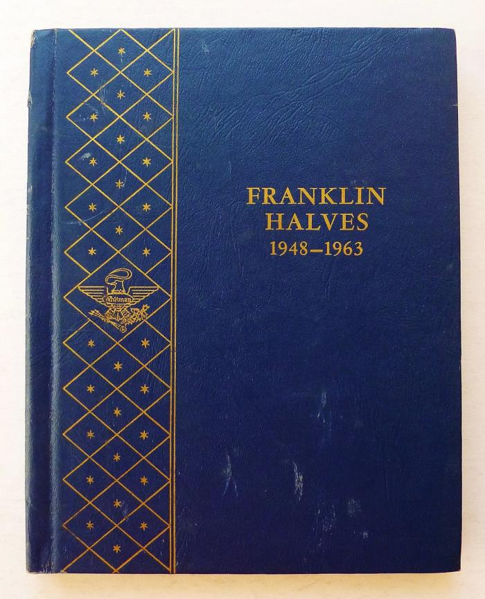 WHITMAN COIN ALBUM ~ FRANKLIN HALVES 1948-63D +++ USED ~ 3 PAGES