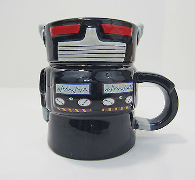 Retro Robot Novelty Mug Black NEW with BOX