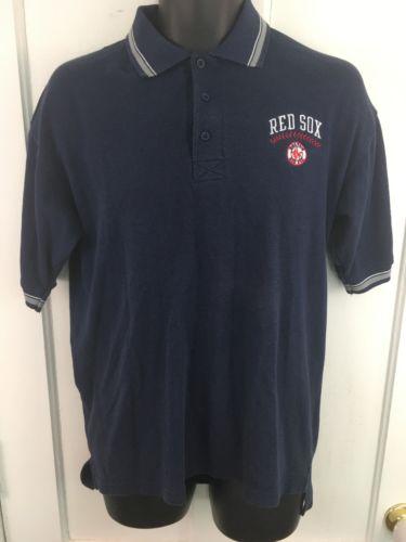 Vintage Men's Fans Gear Red Sox Baseball Polo Medium