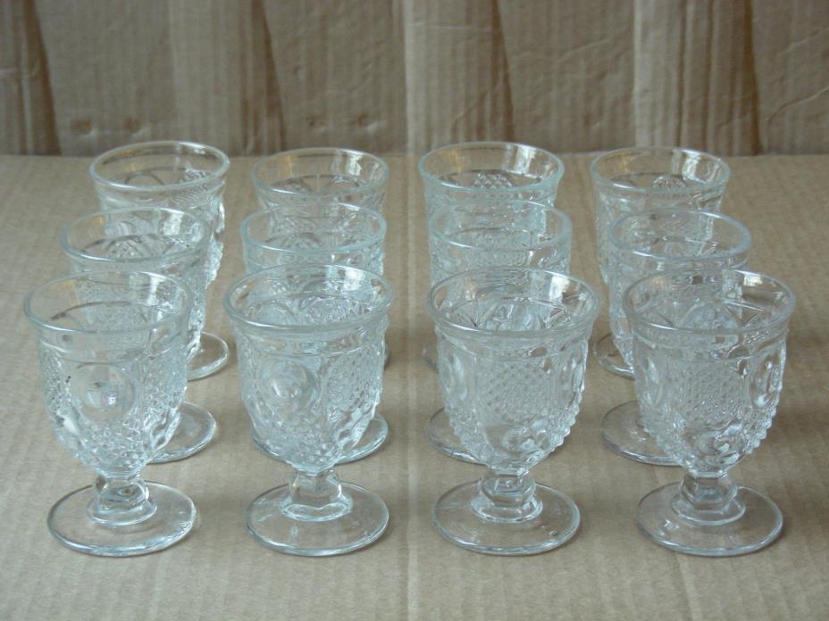 VINTAGE (SET OF 12) HORN OF PLENTY BRANDY / LIQUOR GLASSES