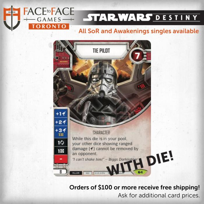 Star Wars Destiny Spirit of Rebellion Singles - 004 Tie Pilot