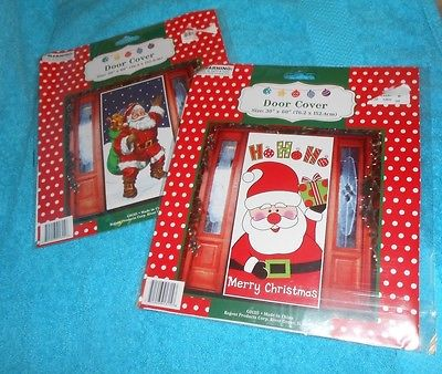 Lot of 2 Christmas Santa Claus Door Covers - Size 30