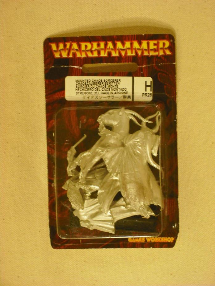 Warhammer Limited Edition Mounted Chaos Sorcerer (PR26) Metal NIB