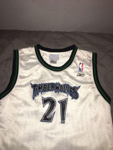 Kevin Garnett #21 Minnesota Timberwolves Reebok Jersey Boys Size Large 14-16