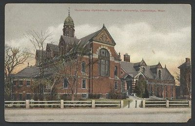 Harvard University Gymnasium in Cambridge Massachusetts Postcard