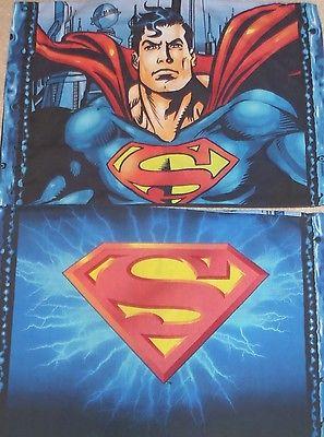 Superman Standard Pillowcase Lot of 2 DC Comics