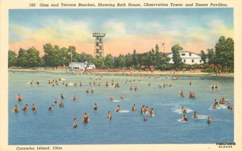 1940s Beaches Bath House Observation Tower Dance Catawaba Ohio Teich 1366