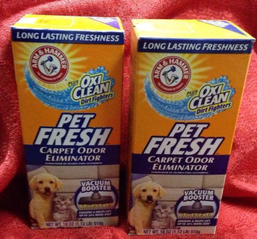 Lot of 2 Arm & Hammer Pet Fresh Carpet Odor Eliminator 18 oz./each New