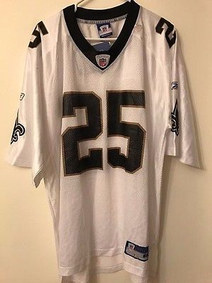 NFL Reebok New Orleans Saints  # 25 Reggie Bush Football Jersey ( XL ) NWT