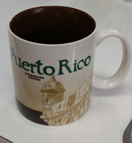 Starbucks Coffee Puerto Rico Collector Series Mug 2010 16 fl oz Beach Scene