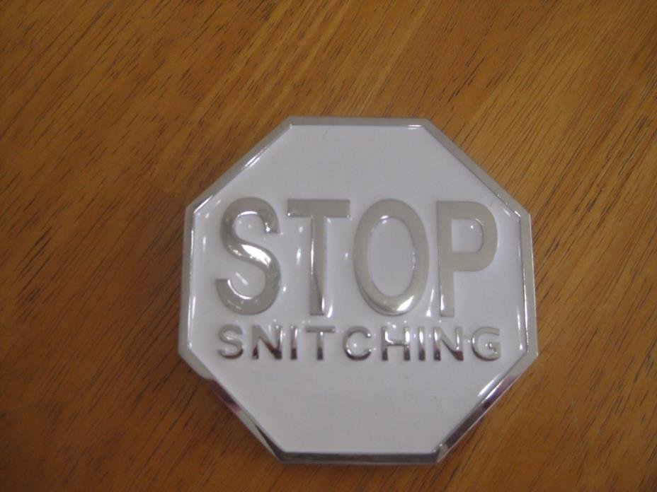Stop snitching belt buckle
