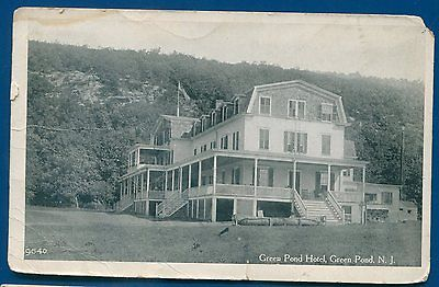 Green Pond Hotel New Jersey nj Dead Post Office DPO postcard