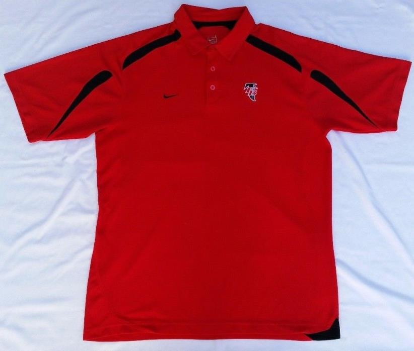 Mens Large Red/Black Short Sleeves Atlanta Falcons NikeFITDRY Polo Shirt (used)