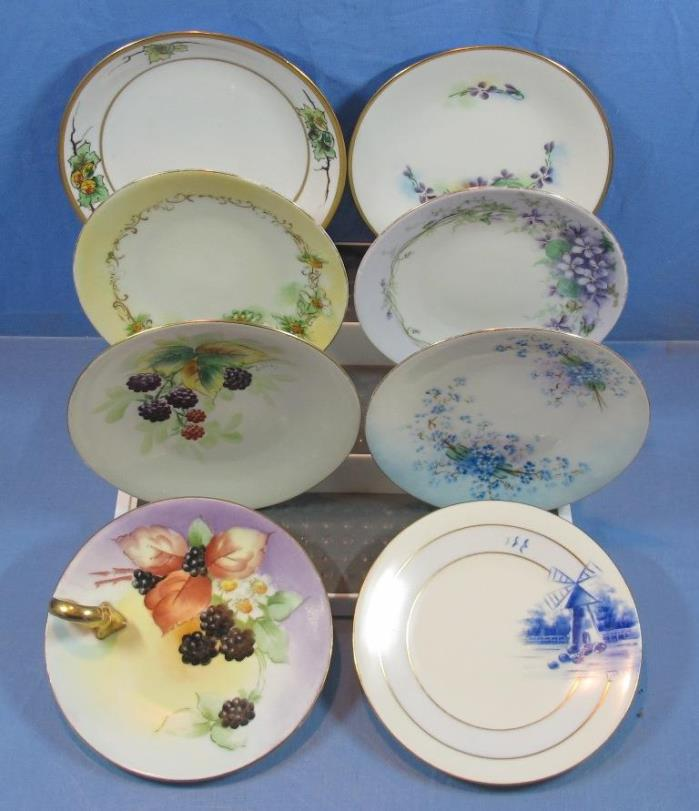 Vintage Lot of 8  Minnie Luken Hand Painted Decorative 6