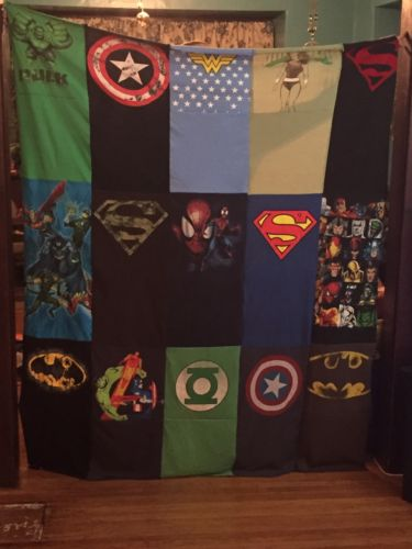 Marvel DC T-shirt Quilt  6x5 Feet