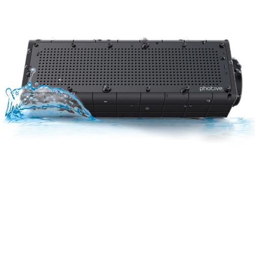 Photive Hydra Wireless Bluetooth Speaker. Waterproof Rugged Portable with built