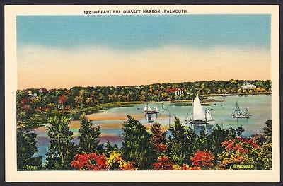 QUISSET HARBOR Falmouth Massachusetts Postcard 4189