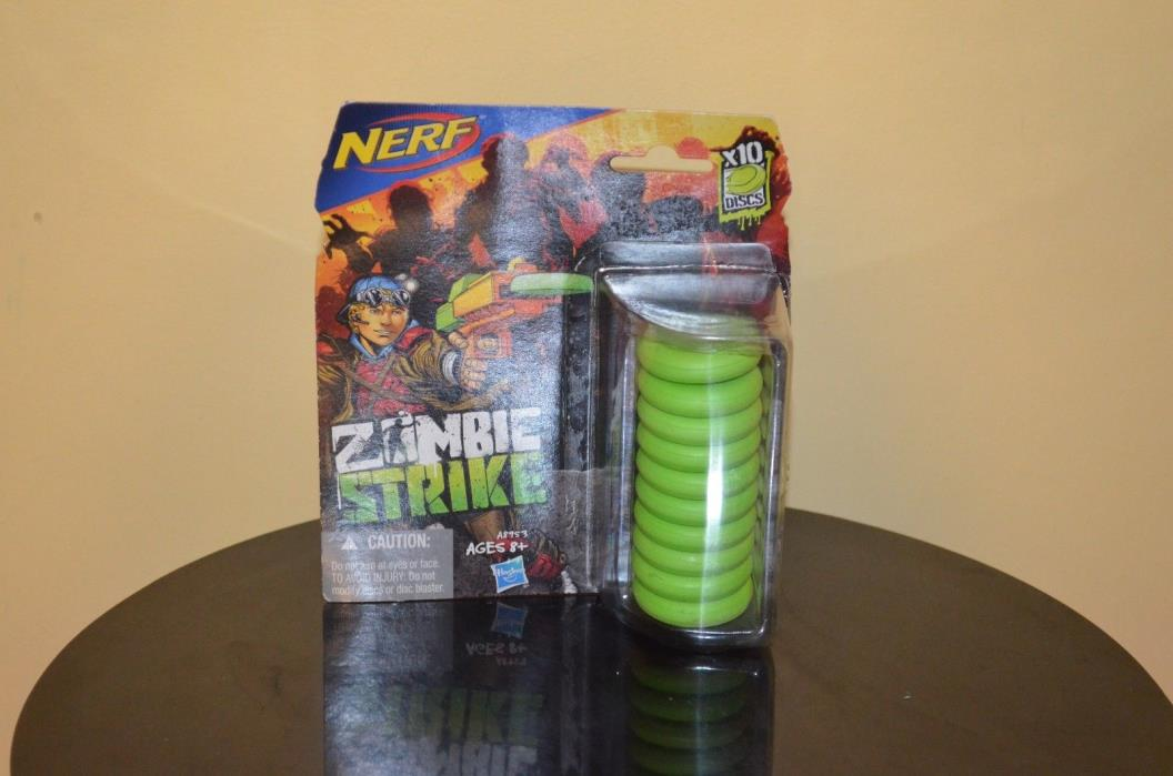 ZOMBIE STRIKE New Nerf Zombie Strike 10 Disc Bullet Set A8973 Replacement Refill