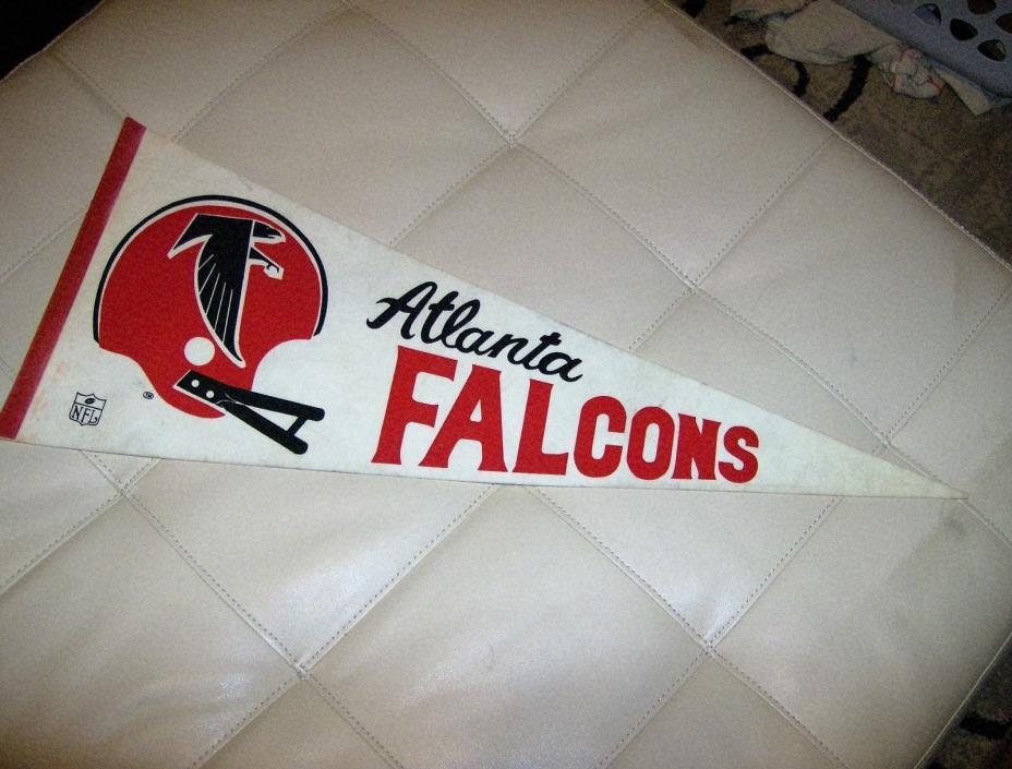 vintage  altanta falcons full size nfl pennant ( double bar)