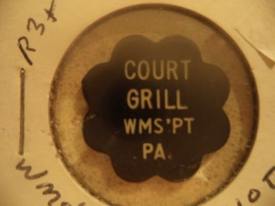 Williamsport, PA Court Grill Trade Token