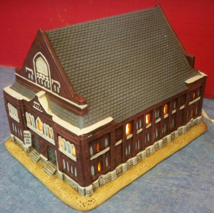 1990 Lefton Porcelain Lighted Building The Ryman Auditorium 1892 Grand Ole Opry