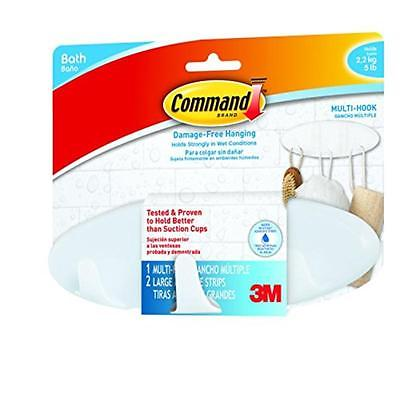 Bath Multi-Hook, 5-Pound Capacity 3M Hook and Eye BATH21-ES 051141958439