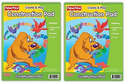 Primary Colors Fisher Price Construction Pad (410-24-FP) (2 Pads)