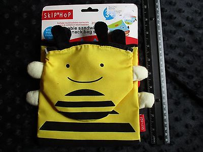 Skip Hop Zoo Reusable Sandwich and Snack Bag Set, Bee