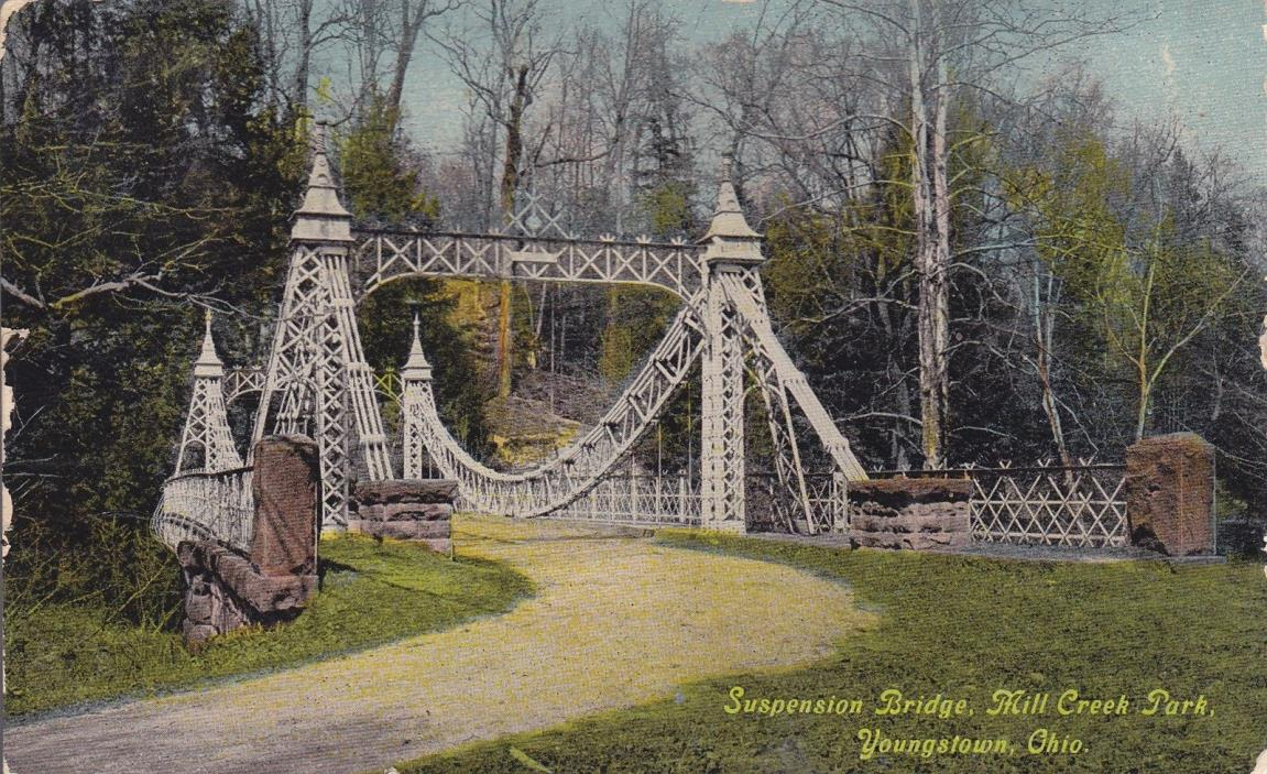 Youngstown, OH - Suspension Bridge, Mill Creek Park