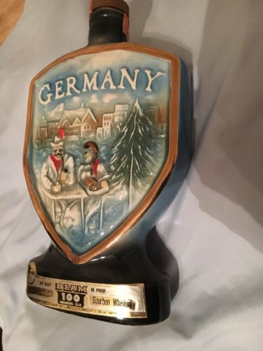Vintage 1970 Jim Beam Germany Ceramic Decanter