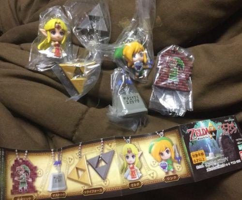 Bandai The Legend of Zelda Link Between Worlds Keychain figure gashapon set 6