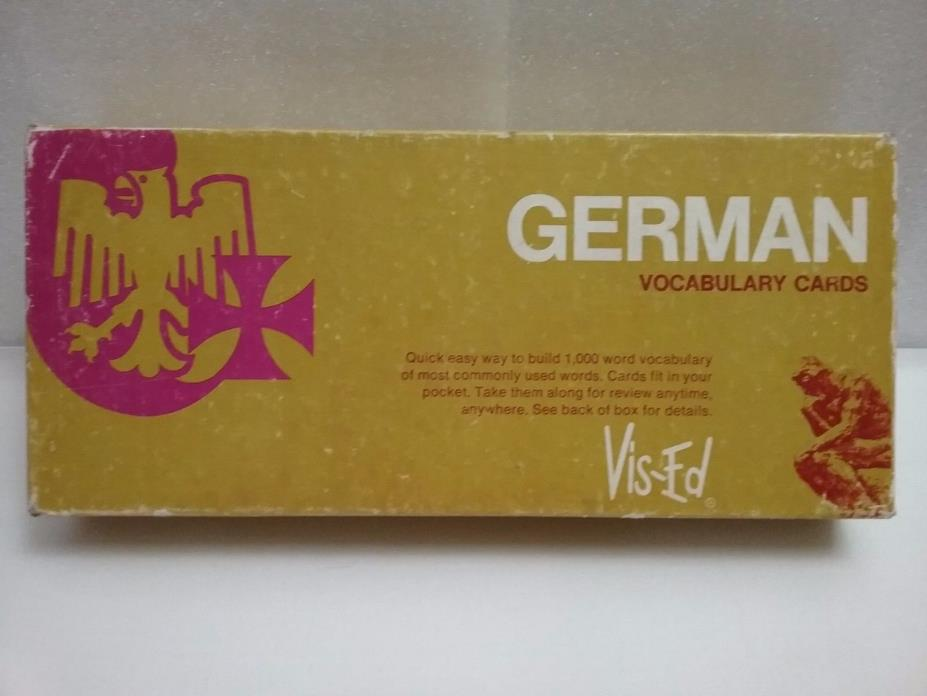 German Vocabulary Flash Cards 1,000 Cards by Vis-Ed 1982