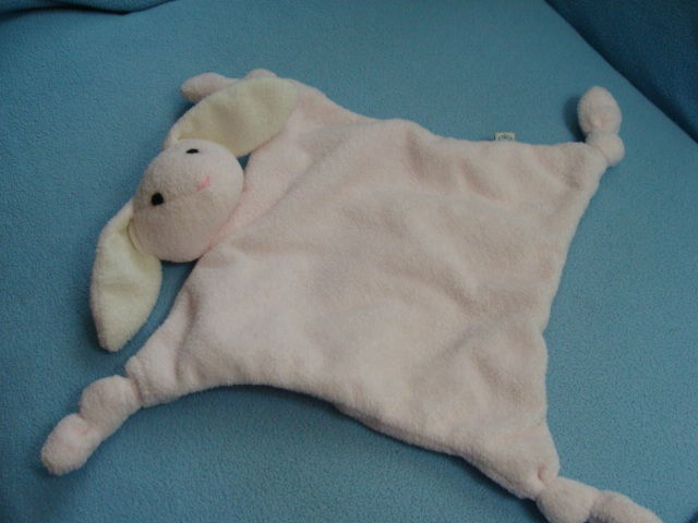 Pottery Barn Kids Rabbit Bunny Security Blanket Lovey Baby Plush Toy PBK Easter