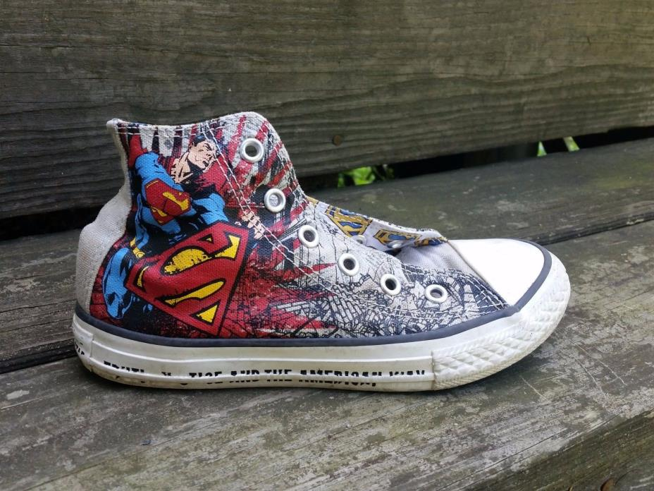 Converse Superman Kids Unisex 13 Sneakers Shoes Play School Comics Superhero