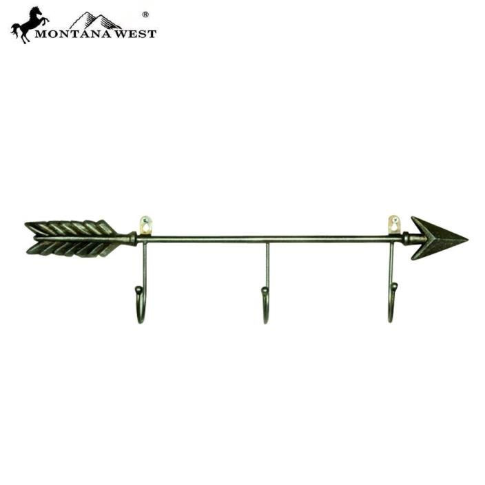 Montana West Arrow Cast Iron Coat Rack Western Home Decoration