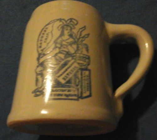 vintage monmouth pottery tobacco mug made in u.s.a