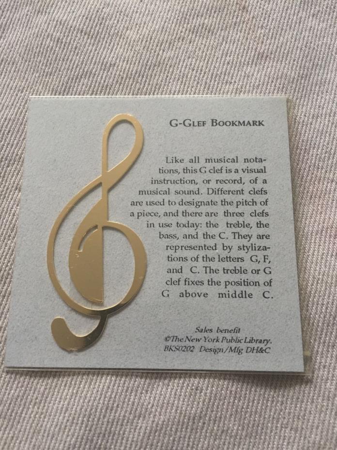 G-Clef Goldtone Metal