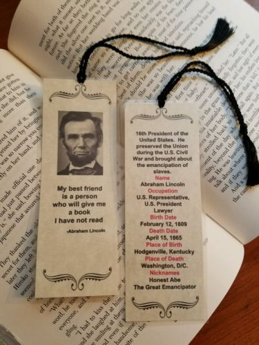 Abraham Lincoln bookmark