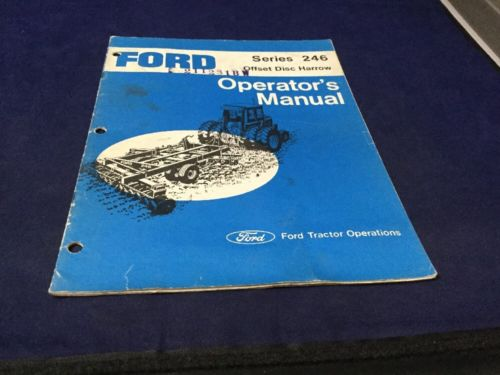 Ford Series 246 Offset Disc Harrow Owner's Operator's Manual SE 3510 12754 12/75