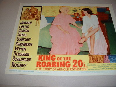KING OF ROARING 20'S-  DORS- 1961  LOBBY CARD 35
